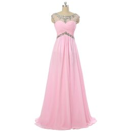 Models Photos Back Canada - Real Photo Pink Beaded V Back Long Chiffon Prom Evening Dress Gowns 2016 Floor Length Formal Dress For Party Plus Size Formal Dresses Cheap
