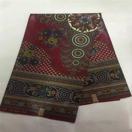 2017Wine Red Color Java Wax Prints Ankara FabricGuaranteed Super Style Quality Cotton Fabric For Making Dresses 6yards Pcs B073 2 Print