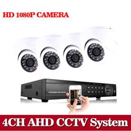 hd ahd cctv camera Australia - NINI HD 1080P 4CH AHD Camera System CCTV Surveillance AHD DVR KIT Video Recorder With 4PCS 2MP AHD White Dome Camera kit
