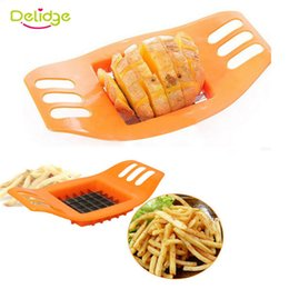 eco potato cutter Canada - Delidge 1 pc Potato Slicer Cutter Stainless Steel French Fry Chopper Chips Making Tool Fries Cutter Potato Vegetable Slicer