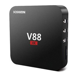 android tv free movie UK - V88 Android TV Box Rockchip 3229 Smart Boxes 4K Quad core support 3D Free Movies Online Mini PC 1gb 8gb MXQ-4K media player