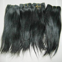 Sleek Hair Canada - New Items Cheapest Indian temple hairs 6pcs lot natural straight bundles Soft Sleek Beautiful Elegant Sales
