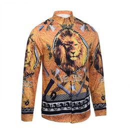 Discount men flower clothes - Wholesale- Men's Long-Sleeve Print Shirts 2016 Fashion Brand Clothing Flower Shirts Men Casual Camisa Social Mascul