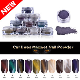 $enCountryForm.capitalKeyWord Canada - Wholesale- Unique 1g box Perfect Cat Eye Effect Magic Mirror Powder UV Gel Polish Nail Art Magnet Glitter Pigment DIY Nail Decoration Tools