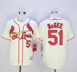 e05c57ac184 ... Free Shipping St. Louis Cardinals 51 Willie McGee Throwback White Blue  Cream Gray Cheap MLB ...