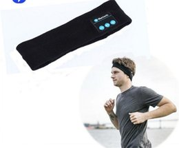running head bands UK - Bluetooth Music Phone Sport Sweatband Sweat Band For Cycling Running Riding Yoga Headband Head Band Hair Band VS Bluetooth Hat