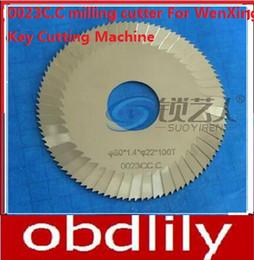 $enCountryForm.capitalKeyWord Canada - Raise Tungsten steel three-blade 0023C.C milling cutter For WenXing Key Cutting Machine 100G,202A,100G1 locksmith