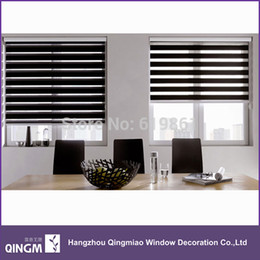 Wholesale Popular Zebra Blinds Finished Product Double Layer Roller Blinds Curtains For Window Treatments Louver Venetian Blinds Inexpensive Double Roller