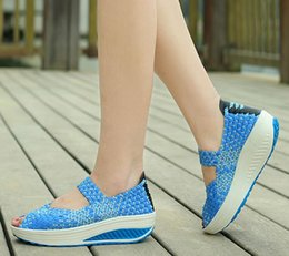 $enCountryForm.capitalKeyWord Canada - Summer new fashion fish mouth shoes sandals women wedge platform sandals recreational braided sandals Free shipping