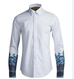 Wholesale white cotton shirt china for sale - Group buy New mens full sleeve black white embroidery china style shirts for men s clothing plus size M XL man Slim fit shirt