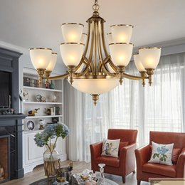 $enCountryForm.capitalKeyWord Canada - Chandelier high end american vintage style full copper chandeliers lamp living room bedroom dining room villa hotel staircase pendant light