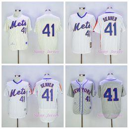 tom seaver jersey new york mets baseball jersey retro 1969 cool base beige gray white stripe
