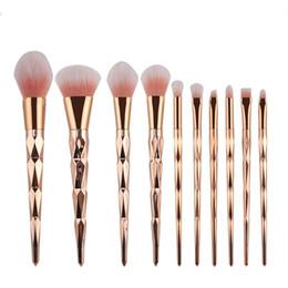 10шт/комплект макияж кисти комплект профессиональный Румяна порошок тени для век бровей губ носа розовое золото смешивание макияж кисти косметические инструменты на Распродаже