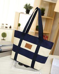 $enCountryForm.capitalKeyWord Canada - Fashion Designer Handbags High Quality Shoulder Bags Women Bag Female Striped Canvas Bag Sac A Main Femme De Marque