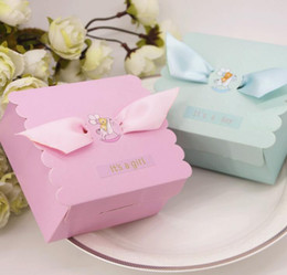 BaBy Boy shower candy Box online shopping - 2017 European style baby shower candy box Infants and young children birthday party gift box boys and girls candy box