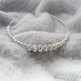 $enCountryForm.capitalKeyWord Canada - Best Selling Sparking One Row Rhinestone Clear Crystal Tiara Headband for Wedding Party Hair Accessories Bridal Jewelry for kids gift