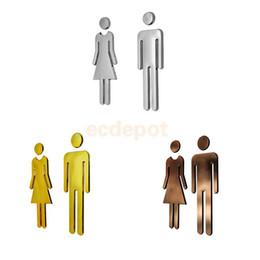 Bathroom Signs Silver discount bathroom door signs | 2017 bathroom door signs on sale at