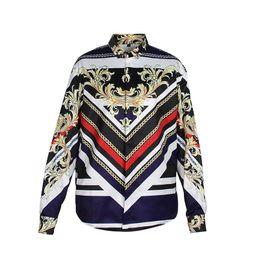 Wholesale long dresses xxl size for sale – plus size New Arrive Business style Mens Shirt Men Casual Shirt Digital Printing Long sleeve Shirts Work Shirt with plus size M XXL