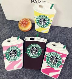 starbucks iphone case NZ - 3D Fashion Starbucks Coffee Cup Simulation Soft Gel Rubber Silicone Case Cover For iPhone 4 5 5S 6 7 Plus iPhone7