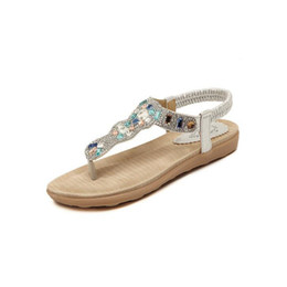 $enCountryForm.capitalKeyWord UK - Women Shoes 2017 New Summer Fashion Women Sandals Rhinestone Square Flat With Leisure Beach Shoes Women Size 35-41