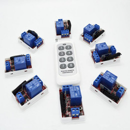 $enCountryForm.capitalKeyWord Australia - Wholesale- 8pcs 433 Mhz Wireless Remote Control Switch DC 12V 10A 1CH relay Receiver Module with One Transmitter For Light Door Gate Garage