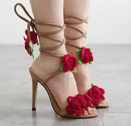 $enCountryForm.capitalKeyWord Canada - 2017 fragrant princess tender and beautiful rose flower blossom sandals sexy fashion spells fine fine with high heels sandals nightclubs hig