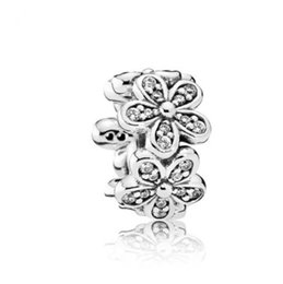Cherry Blossoms Flowers UK - Fit Pandora Charm Bracelet White Cherry Blossom Flower European Silver Charms Beads DIY Snake Chain For Women Bangle Necklace Jewelry Xmas