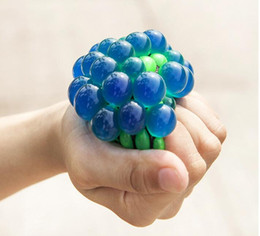$enCountryForm.capitalKeyWord Australia - Cute Squeeze Stress Ball Face Reliever 6cm 5cm Grape Ball Autism Mood Squeeze Relief Healthy Toy Funny Geek Gadget Vent Decompression toys