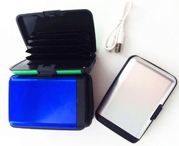 Wallet charger online shopping - 200pcs Newest Fashion Women Men Credit Card Holders with charger Card Aluminum Wallet Water Proof