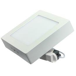 wholesale free shipping square led ceiling panel light 18w surface mounted panel led lamp ac85 265v white or warm white led outdoor lamp - Outdoor Surface Mount Light