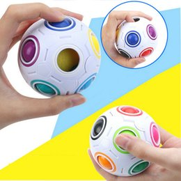 $enCountryForm.capitalKeyWord Australia - 50PCS Rainbow Ball Magic Cube Speed Football Fun Creative Spherical Puzzles Kids Educational Learning Toys games for Children Adult Gifts