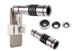 Mobile 18x Zoom Canada - 18X Metal Camera Phone lens 3 in 1 Telescope lens 18x Optical Zoom Phone Lens With Mini Tripod For Mobile Phone Lenses