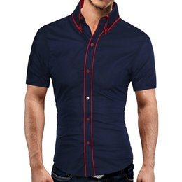$enCountryForm.capitalKeyWord Australia - Brand 2017 Fashion Male Hawaiian Shirt Short-Sleeves Tops Double Collar Button Design Mens Dress Shirts Slim Men Shirt 2XL