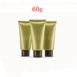 hand cream tube wholesale Australia - Wholesale 60g Green Empty Green Soft Tube,60cc Cleansing Cream, Hand Cream, Mask hose, Pipe Extrusion 2 oz Cosmetic Container
