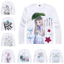 T Shirts Style Canada - Japanese Anime Shirt Anohana The Flower We Saw That Day T-Shirts Multi-style Long Sleeve Honma Meiko Cosplay Costume Kawaii Gift
