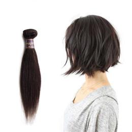Burgundy Short Weave Canada - Short Straight Virgin Hair Ombre 2 Tone Color 1B Burgundy 1B 27 1B 30 Brazilian Hair 50g bundle Double Weft