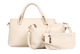 $enCountryForm.capitalKeyWord Canada - New Arrival 3pcs Set Women Totes Bags Fashion Classic Alligator PU Leather Designer Handbags Lady's Shoulder Genuine Leather Bags And Purse