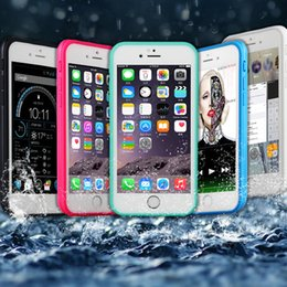 transparent iphone front back Canada - 100% Sealed Waterproof Full Body Water Resistant Soft TPU+PC case Gel Front & Back Case For iPhone 7 Plus 6S 6 SE 5 5S