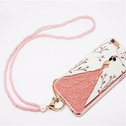 $enCountryForm.capitalKeyWord Canada - 2017 newest fashion high quality colorful TPU Wedding Dresses Girl Lanyard phone Cases for your selection