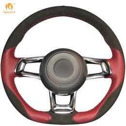 $enCountryForm.capitalKeyWord Canada - Mewant Wine Red Leather Black Suede Car Steering Wheel Cover for Volkswagen Golf 7 GTI MK7 VW Polo GTI Scirocco 2015 2016
