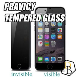 privacy film for glass Canada - For Iphone X Iphone 8 Privacy tempered glass invisible private protection screen protector film for Sumsung galaxy s7 0.26mm 9h antiy spy