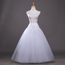$enCountryForm.capitalKeyWord Canada - Wholesale Wholesale Cheap A Line Tulle Bridal Petticoats Wedding Underskirt Crinolines Bridal Accessory with full lining