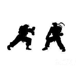 Chinese  Wholesale 10pcs lot Japanese Anime Fighting Game Street Fighter Fighting Car Sticker for Truck Motorcycles Kayak Reflective Vinyl Decal manufacturers