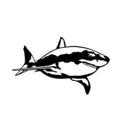 $enCountryForm.capitalKeyWord UK - Great White Shark Car Sticker Vinyl Decal Decorate Sticker Car Window Wall Bumper Jaws Fish Animal Jdm