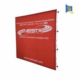 pop up stand banners 2019 - 230*230cm Exhibition Booth Fabric Pop up Display Banner Stand Backdrop Wall Stand for Trade Show Advertising(only frame)