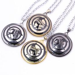 Mockingjay Chain Australia - The Hunger Games Necklaces Pendant Necklaces Rotatable Mockingjay Arrow Necklaces & Pendants 4 Colors Necklace Jewelry Hot