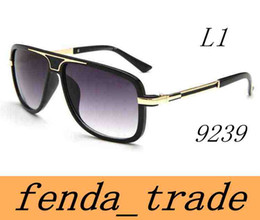 Full Face shield online shopping - The New Men women FACE Sunglasses Fashion Big Metal Frame Sunglasses UV400 Men Eyewear Top Quality A MOQ