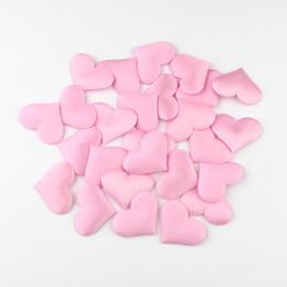 100 unids Corazón fabic 2x1.5 cm / 3.5x3.5 cm Fiesta de la Boda Confeti Decoración de Mesa baby shower fiesta de cumpleaños decoración Suministros