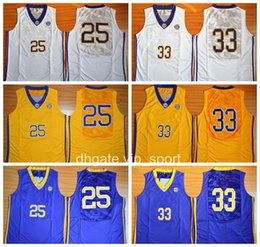 9ddb1451f15 Yellow White Men LSU Tigers Basketball Jerseys College 33 Shaquille O Neal  ONeal ...