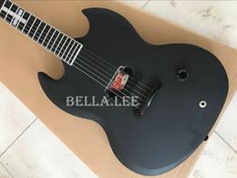 Sell guitar china online shopping - Matt Black color custom SG guitar China made hot selling electric guitars